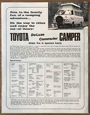 c1968 Toyota Hiace Deluxe Commuter Camper original sales brochure