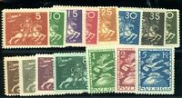 SWEDEN #213 to 227 -- 1924 UPU SET OF 15 MINT LIMITED PRINTING CAT $770