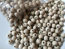 Off White Wooden Beads approx 100 x 7mm Crafts Jewellery Kids