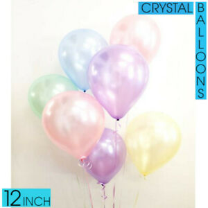 "100x 12"" FROZEN Colour Transparent LATEX BALLOONS XMAS Birthday Party Decoration"