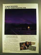 1980 American Express Card and Best Western Hotels Ad