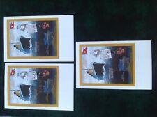 Set 3 colour picture Postcards RMS Titanic 85th Anniversary 10/4/1997 Batum