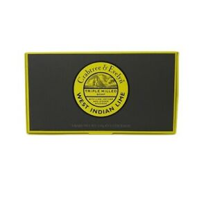 Crabtree & Evelyn West Indian Lime Triple Milled Soaps 3 in Box 5.3 Oz Ea NEW