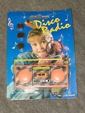 VINTAGE 1992 MARLBORO MINI DISCO RADIO BOOMBOX MUSICAL KEYCHAIN WITH BATTERIES!