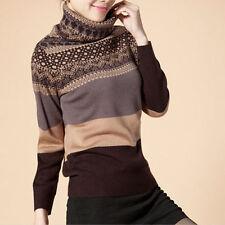 Wool Machine Washable Medium Knit Geometric Jumpers & Cardigans for Women