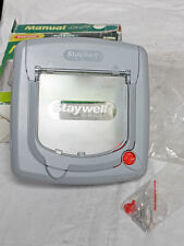 Staywell Deluxe 340 4-Way Locking Manual Cat Flap Grey NEW!