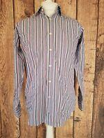 Mens Charles Tyrwhitt Shirt Small Blue Stripe 42 Chest