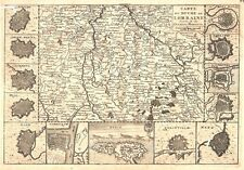 Antique map, Carte du Duche de Lorraine. Gravee sur les derniere memoires
