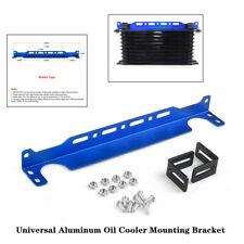 340mm Length Blue Universal Aluminum Alloy Oil Cooler Mounting Bracket Trim Kit