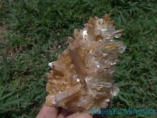 HUGE HIGH END BURR DISPLAY___OPTICAL CLEAR Arkansas Quartz Crystal Cluster