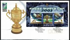 Australia 2003 Rugby World Cup Minisheet FDC -Complete Set Of Three Stamps -Mint