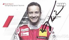 2011 Timo Scheider signed Audi Racing A4 DTM postcard