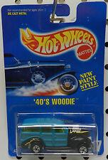 Ford Street Rat Rod 217 Woody Woodie 1940 40 1992 Blue Card Hw Hot Wheels