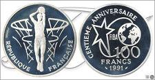 Francia - Monedas Conmemorativas- Año: 1991 - numero KM00992 - PROOF 100 Francos