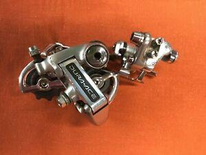 Shimano Dura-Ace 7400 Road Bike 7/8 Speed Group Set Front/Rear Derailleur Silver