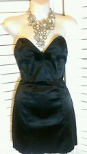Vintage Sexy Wheels & Dollbaby Strapless Satin Cocktail Dress 4/6