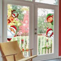 Merry Christmas Window Wall Sticker Decals Santa Claus Snowflake Home Xmas Decor