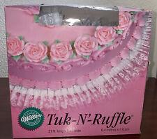 "Vintage Wilton TUK-N-RUFFLE Finishing Touch Cake Ruffle White Lace 21 Ft X 3""in"