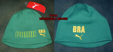 Rare PUMA Reversible GREEN YELLOW BRAZIL BEANIE HAT CAP - ADULT ONE SIZE New NWT
