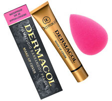 DERMACOL COVER WASSERFEST MAKE UP GRUNDIERUNG 208 + BEAUTY SPONGE SCHWAMM