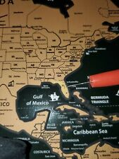 Scratch Off Map World Earth Countries for Travel Gift School new FREE SHIPPING