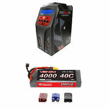 Venom 40C 2S 4000mAh 7.4V Sport Power LiPo Battery and Pro Duo Charger Combo