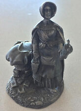 THE FRANKLIN MINT The Strawberry Girl Fine Pewter Figurine 1977