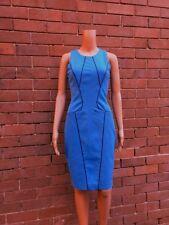 CUE ~ 10 ~ Chic Cornflower Blue Sleeveless Knee Length Pencil Dress ~ RRP $260