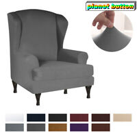 Wing Back Slipcover Stretch Wingback Armchair Chair Cover Waterproof Home Decor