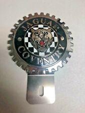 NEW Vintage Jaguar Coventry License Plate Topper-Chromed Brass- Great Gift Item!