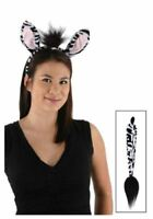Zebra Animal Ears and Tail Set Costume Accessory