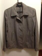 SPORTSCRAFT NWOT Sz14 Charcoal Herringbone Zip-Up Jacket 45% Wool Work / Casual