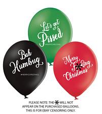 5 X #MERRYCHRISTMAS BALLOONS (PARTY/BANTER/XMAS/SANTA/HUMBUG/SNOW)
