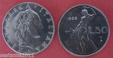 C20  ITALY  ITALIA REPUBBLICA ITALIANA   50 LIRE 1968   KM 95.1  FDC / UNC