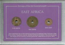 British East Africa of Somaliland Kenya Tanganyika Uganda Zanzibar Coin Gift Set