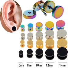Fashion 2Pcs Punk Fake Cheater Ear Plugs Gauge Illusion Body Jewelry Pierceing
