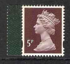 GB 2009 sg Y1762 5p Chocolate litho 2 bands Darwin booklet stamp MNH (ex Y1743s)