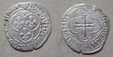Louis XI blanc argent au soleil Tours 1475 / France silver groat