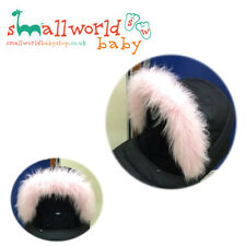 Pink Fur Pram Hood Trim Accessory (NEXT DAY DISPATCH)