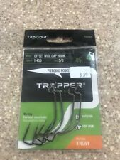 Trapper Tackle Offset Wide Gap X Heavy Hook Style#11450 Size 5/0