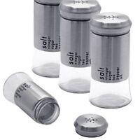 Edelstahl Glas Salzstreuer Pfefferstreuer Zucker Gewürzdose Kräuter Gewürzmühle