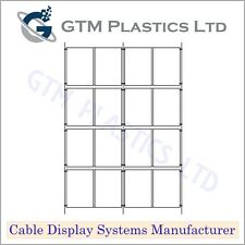 Estate Agent Cable Window Display - 4x4 A4 Portrait - Hanging Poster Holders