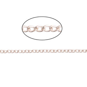Rose gold plated jewellery making findings chain