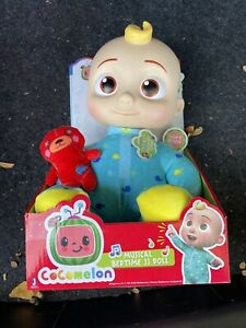 COCOMELON Plush Bedtime JJ Doll, 10in with Sound NEW