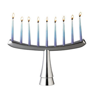Nambe - Holiday Collection - Menorah Piece - Measures at 12-1/2 by 7-1/2 inches