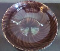"""Oneida Horizon Swirl 10"""" Round Veg. Bowl Brown"""
