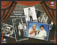 Paraguay 2018 MNH Rafael Rojas Doria 1v M/S Artists Actors Famous People Stamps