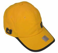 6 Panel Nylon Sports Safety Cap Adjustable Hat-gold yellow