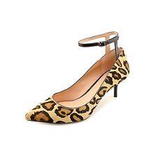 ENZO ANGIOLINI Galata Ankle Strap Pumps, Animal Print Haircalf, 7.5M, MSRP $168
