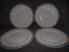 Set of 4 Villeroy & Boch Twist Alea Caro Dinner Plates